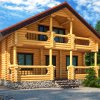 Cylinder log wall prefab homes (sets of lumber)