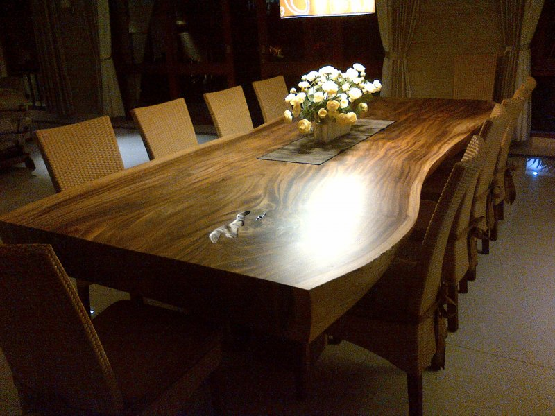 Offer solid wood table semi finished and