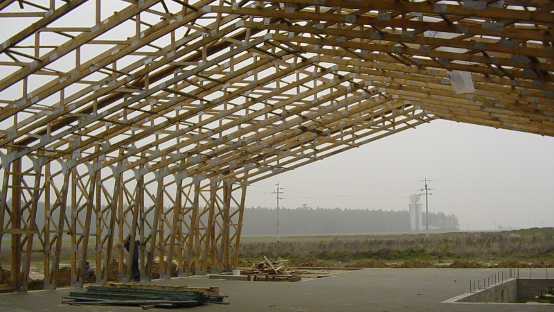 Offer wooden prefabricated carcass houses roof trusses for Prefabricated roof