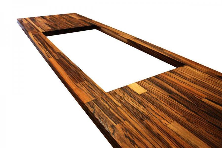 Zebra Wood Worktops Countertops Butcher Block Table Tops Finger Jointed Furniture Panels